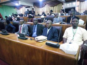 Lagos State Chairman, Hon Adeshina Kassim EFA and his Executives, Hon Adeshina Kassim EFA at the State Assembly to defend the Association submission on the amendment bill on tenancy law.