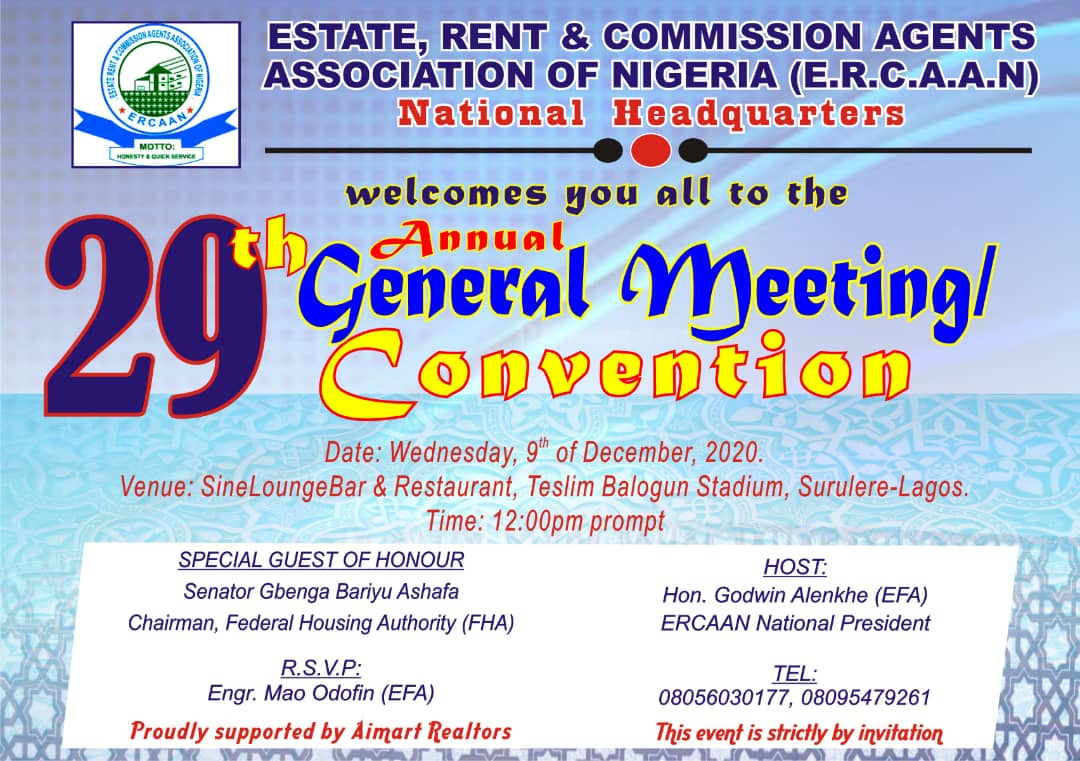 29TH ANNUAL GENERAL MEETING/CONVENTION